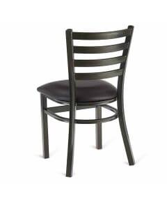 Metal Ladderback Side Chair in Gold Vein