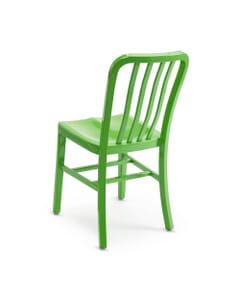 Stackable Vertical Aluminum Patio Chair in Green