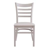 Stackable Ladderback Indoor/Outdoor Restaurant Chair in Grey
