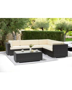 Espresso Wicker Outdoor Lounge Set