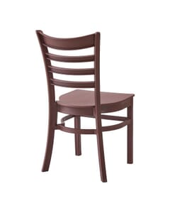 Stackable Ladderback Indoor/Outdoor Restaurant Chair in Java