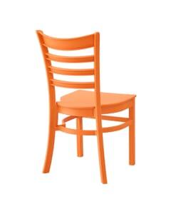 Stackable Ladderback Indoor/Outdoor Restaurant Chair in Mango