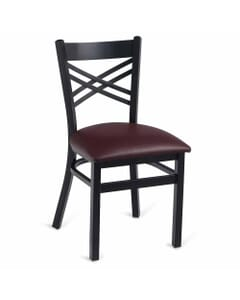 Metal Double Cross Back Side Chair