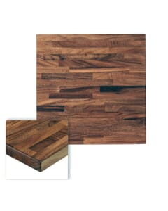 1 Lot of 3 Units - South American Solid Wood Table Top in Walnut