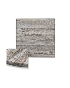 Werzalit Wood Composite Outdoor Dining Table Top in Reclaimed Wood