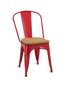 Indoor Steel Chair - Red Finish