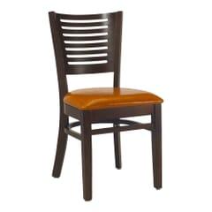 Narrow-Slat Back Side Chair in Walnut