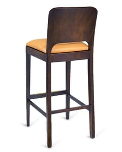 European Beechwood Commercial Bar Stool in Dark Walnut