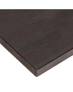 Solid Oak Wood Plank Dining Table Top in Walnut