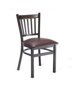 Industrial Steel Vertical-Back Restaurant Chair