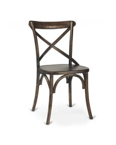 Oak Wood Cross-Back Commercial Chair