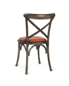Antique Oak Wood Cross-Back Commercial Chair