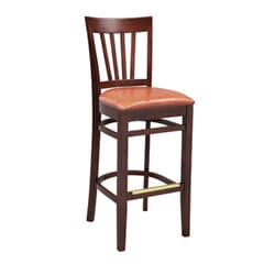 Milan Side Bar Stool with Upholstered Seat (front)
