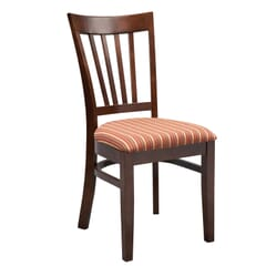 Milan Side Chair With Upholstered Seat (front)